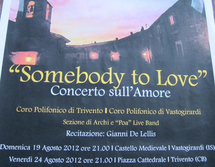 Somebody to love - Concerto sull'amore
