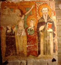 Un'affresco della cripta di San Casto sita nella cattedrale di Trivento