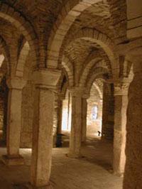 Un'immagine della cripta di San Casto sita nella cattedrale di Trivento