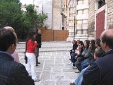 All'arrivo ad Andria ci accoglie Mariangela Zingaro, l'Animatrice di Comunità della Diocesi di Andria-Canosa-Minervino